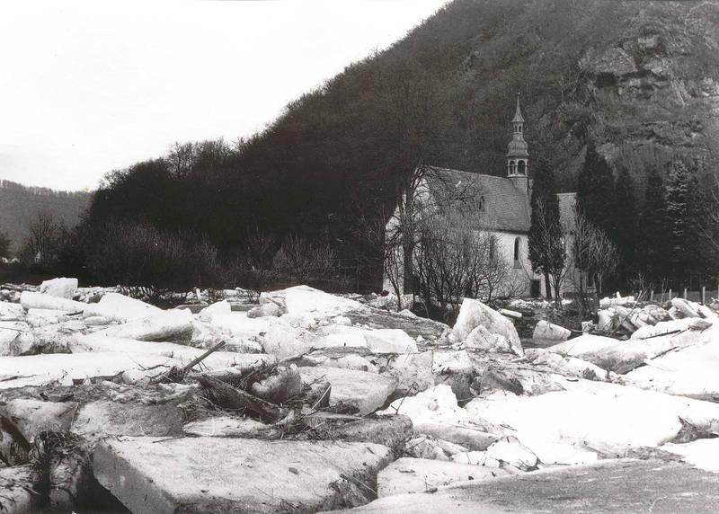 Eisgang an der Kreuzkapelle 1928-29