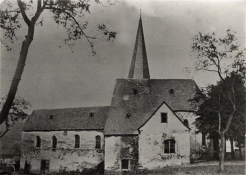 Pfarrkirche um 1875 vor dem Abriss