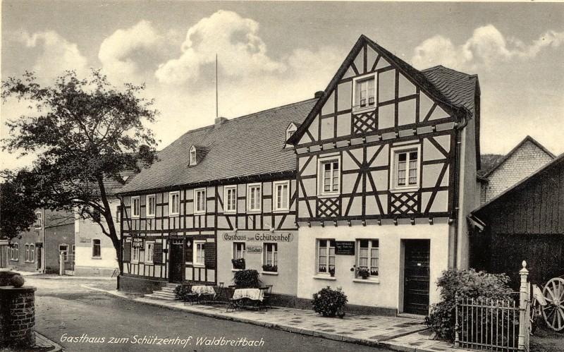 Gasthaus zum Schützenhof mit Spar- und Darlehenskasse