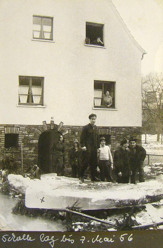 Eisscholle in Schneiders Garten
