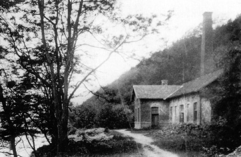 Gebäude der Grube Katzenschleife um 1900