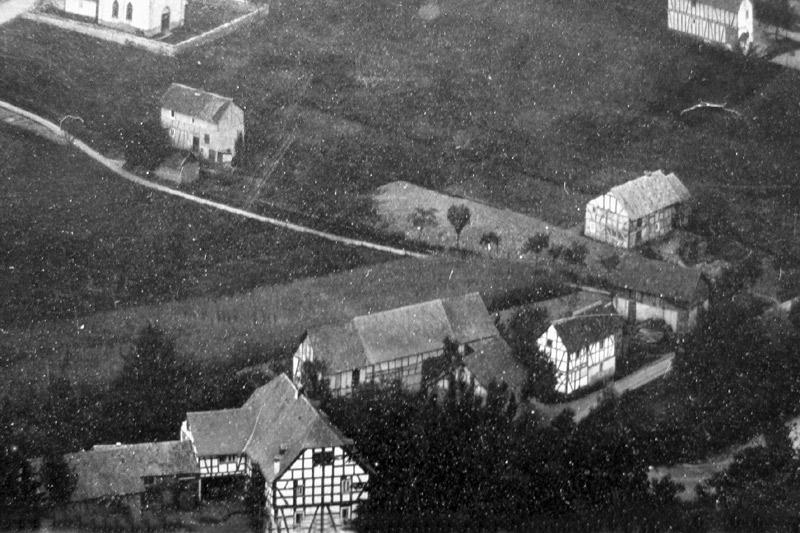 Scheid's Mühle und Ölmühle mit Nebengebäuden um 1900