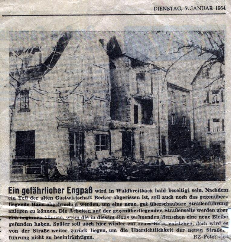 Quelle: Rhein-Zeitung vom 07. Januar 1964
