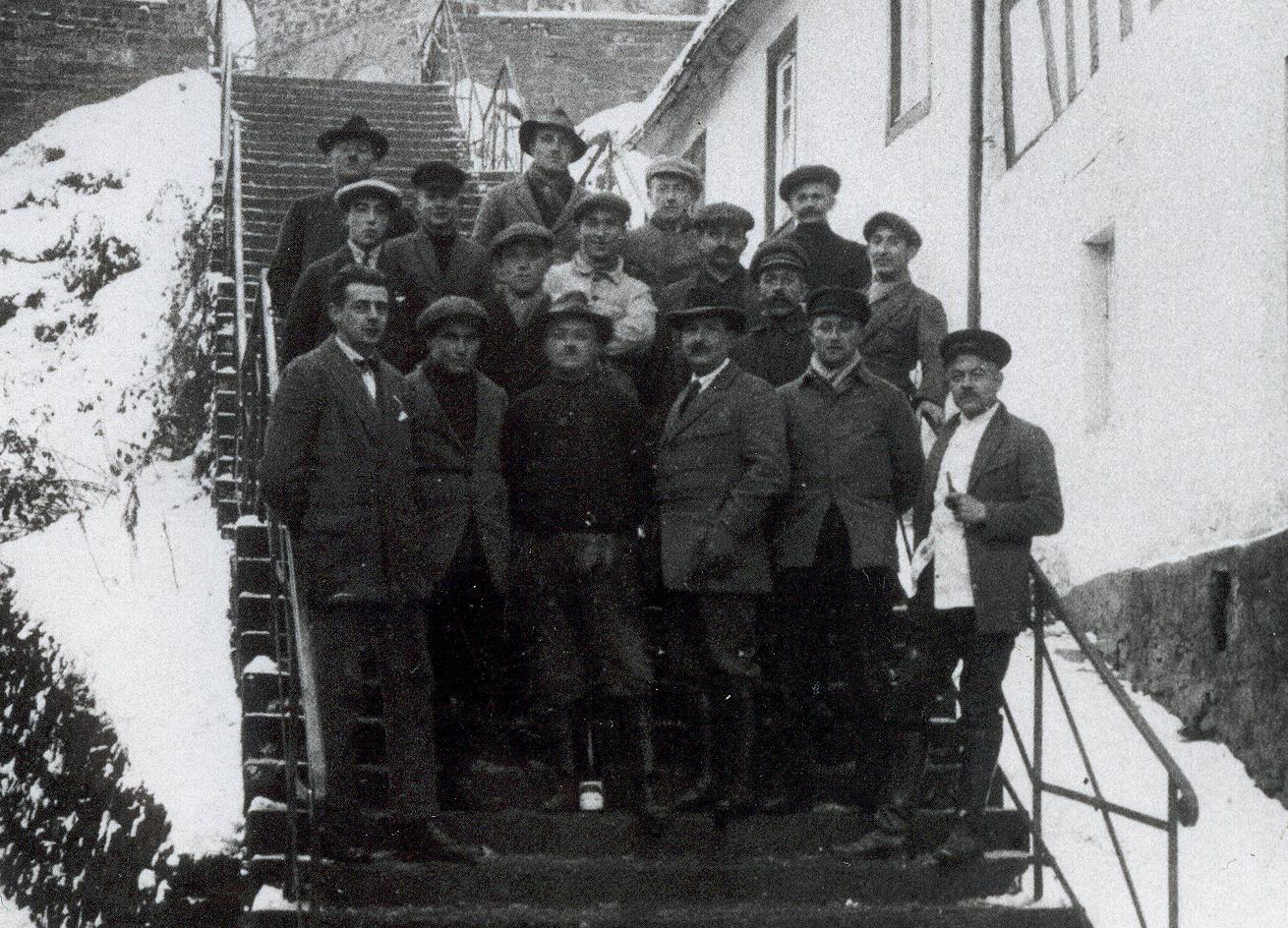 Die Helden der Kirchturmreparatur 1926