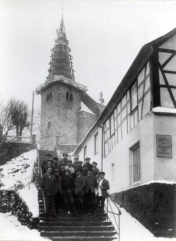 Kirchturmreparatur 1926