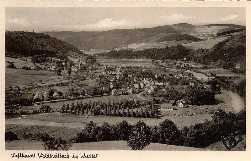 Ansicht Dorf mit Strandbad, Park und Grünanlage ca. 1939