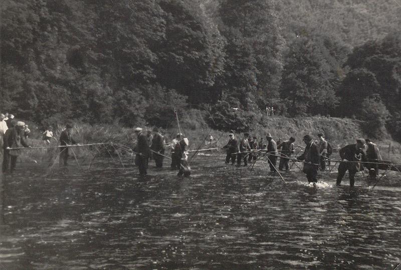 Fischzug 1941 etwa auf Höhe vom Hahnestein