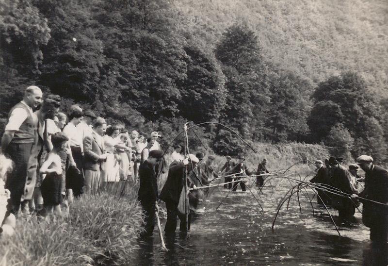 Fischzug 1941 zwischen Hahnestein und Bleischeider Bildchen