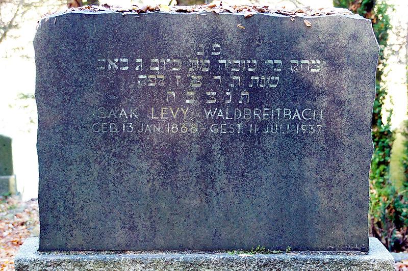 Grabstein Judenfriedhof 2013