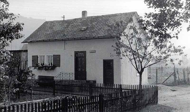 Haus Hopp am Ende vom Gartenweg um 1952