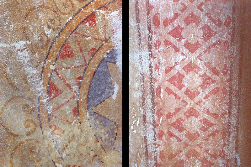 Original-Malereien von 1881 - freigelegt 1977