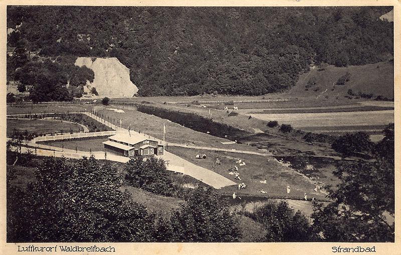 Strandbad kurz nach Eröffnung mit neuem Badehaus 1928