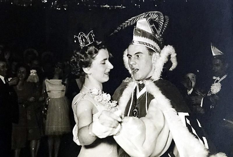 Prinzenpaar 1957 Lotte (Zimmermann) vom Rosengarten und Winfried Glüsing
