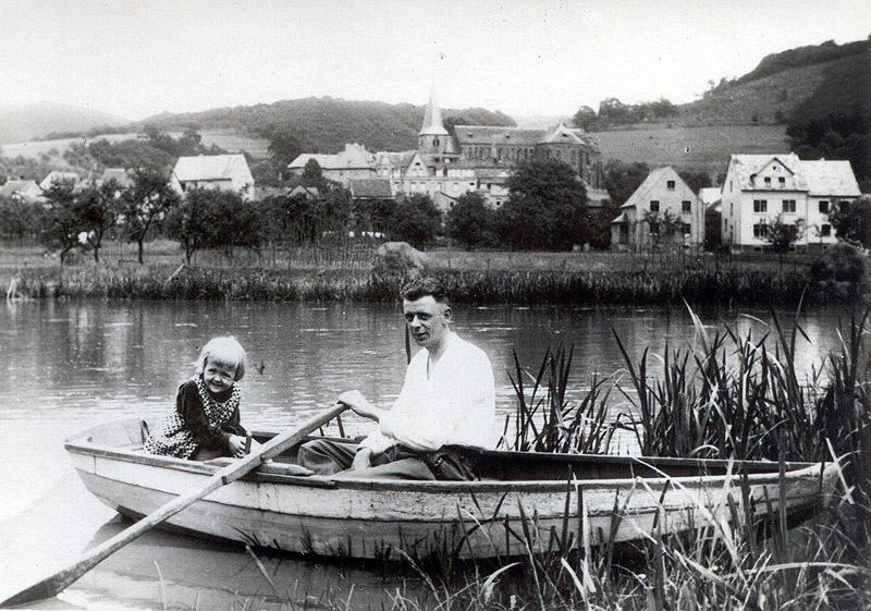 Kahn im Schilf 1931 Anneliese Hertling und Jakob Kröll