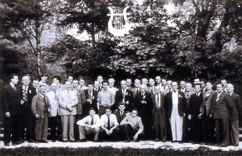 MGV Wiedperle im Park nahe Strandbad  - Anfang 1950er Jahre
