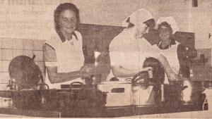 Küchenpersonal des Bottroper Kinderkurheim
